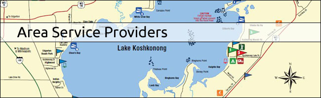 Area Service Providers | Lake Koshkonong & Rock River