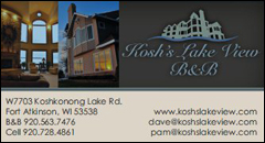 Koshs Lake View Bed & Breakfast | Fort Atkinson
