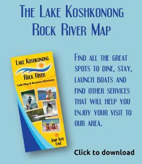 The Lake Koshkonong / Rock River Map