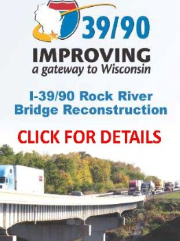 I-90 I39 Newville Rock River Bridge ConStruction Wisconsin (Custom)