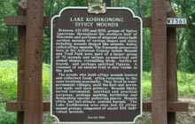 Lake Koshkonong Effigy Mounds Marker | Pic credit: William J Toman