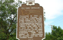 Panther Intaglio Historical Marker