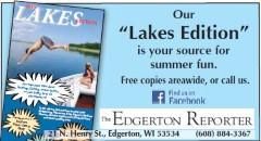 edgerton reporter - lakes edition